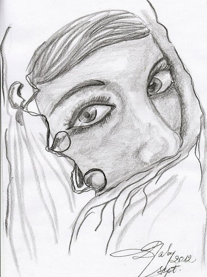 Arabian Girl Drawing