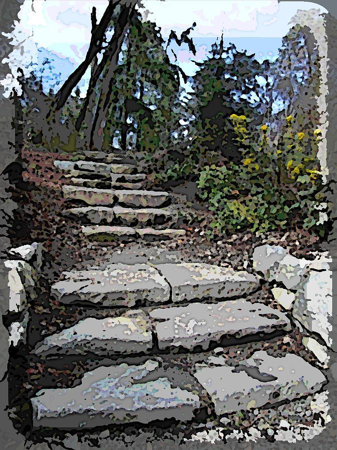 Arboretum Stairway Digital Art