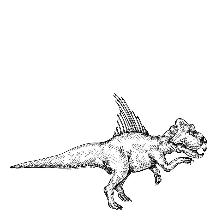 Archaeoceratops - Dinosaur Drawing