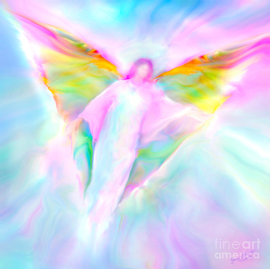 Archangel Gabriel In Flight Painting