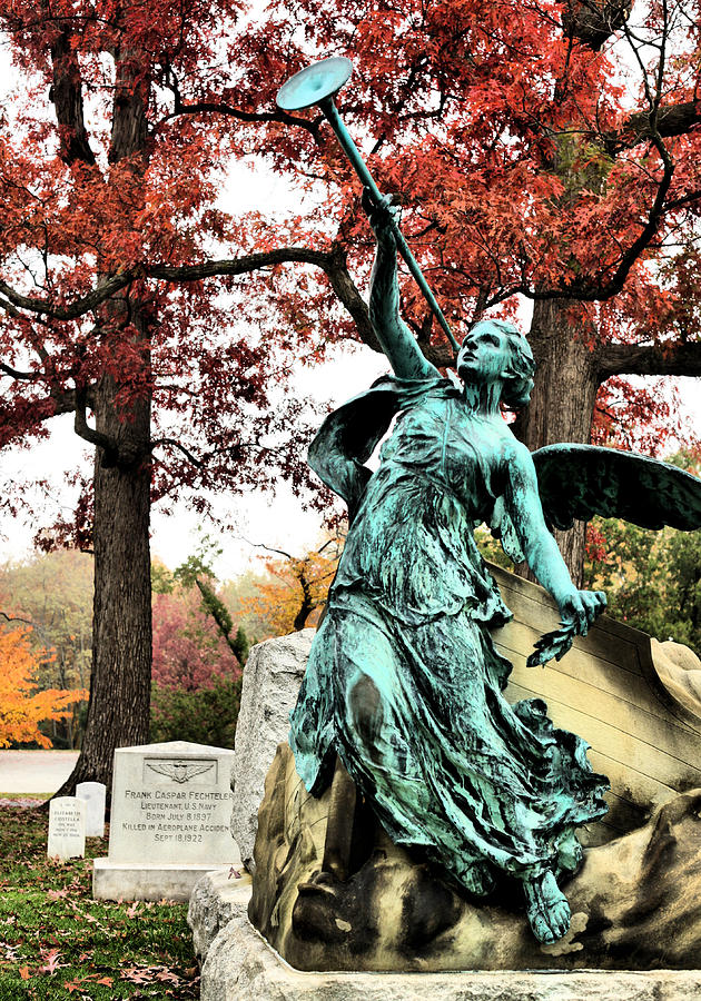 Arlington Cemetery Photograph - Archangel Gabriel by JC Findley