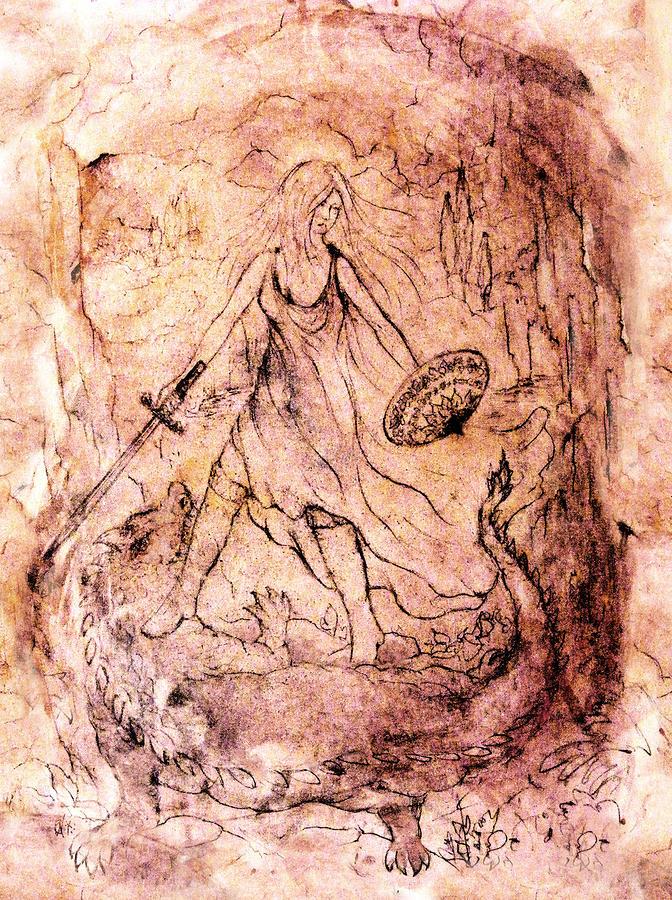 Archangel Study Drawing