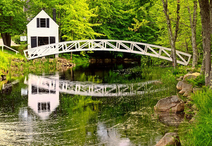 Arched Bridge-somesville Maine Photograph