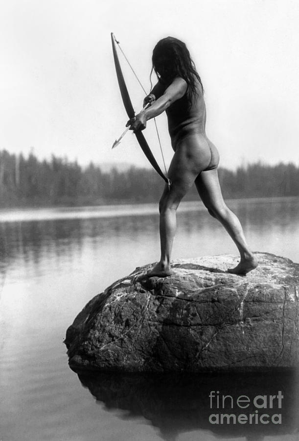 Archery: Nootka Indian Photograph  - Archery: Nootka Indian Fine Art Print