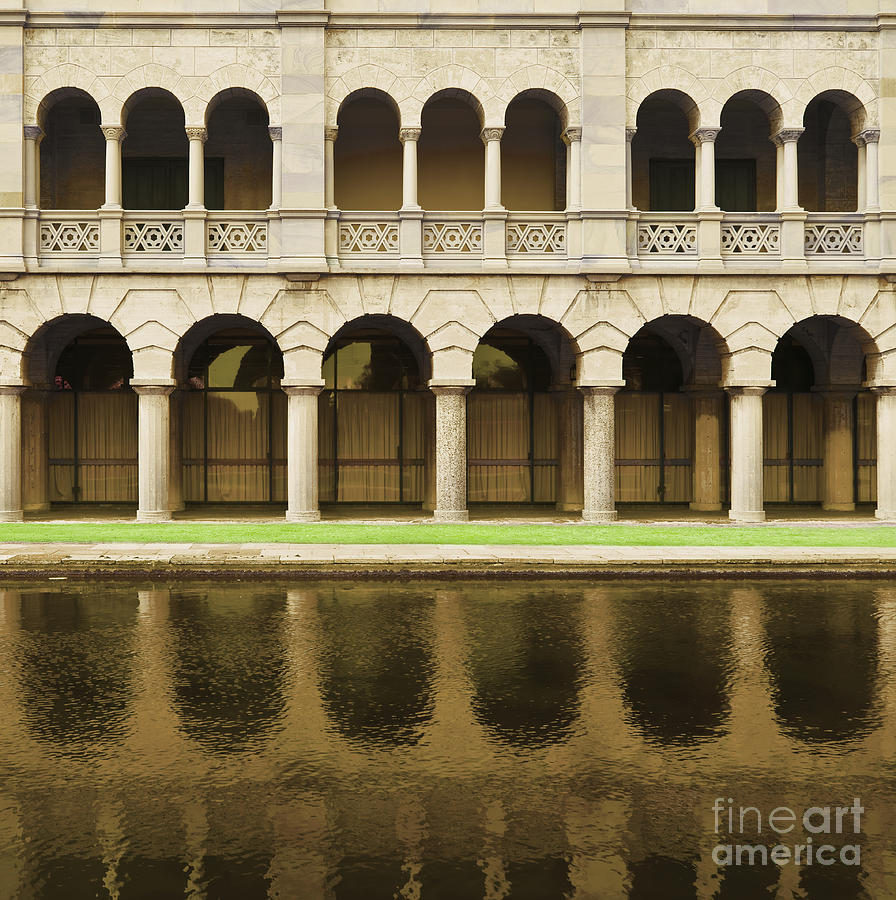 Arches And Columns Reflected In Water Photograph By Dave