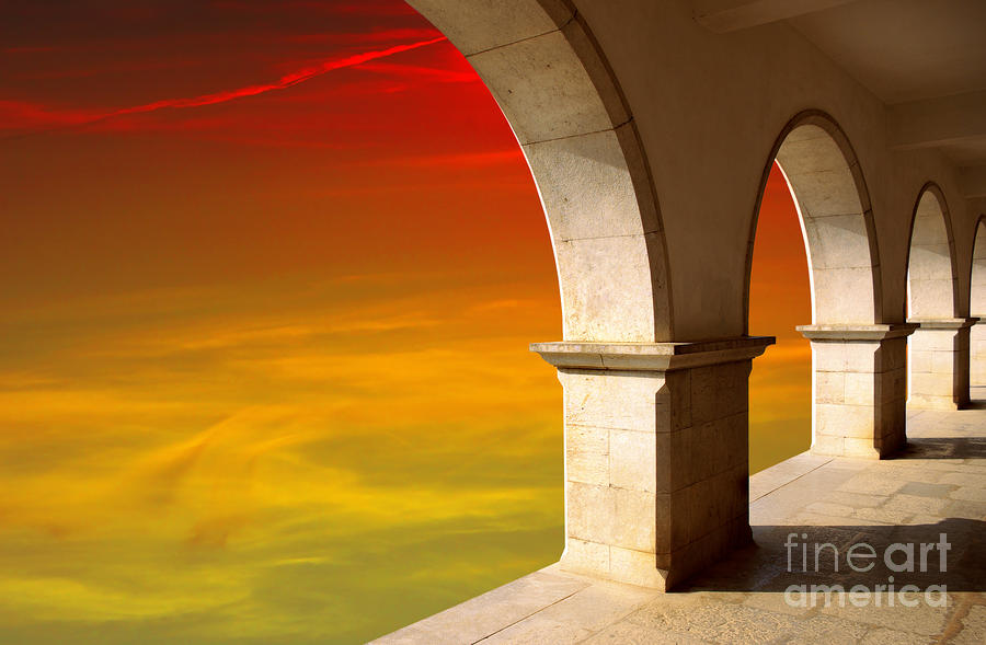 Arches At Sunset Photograph