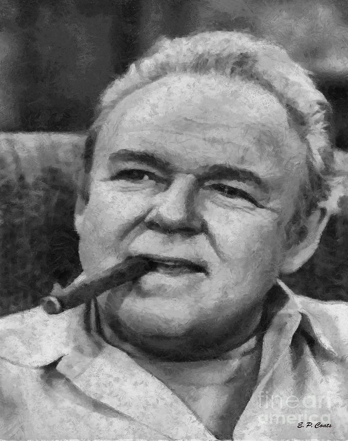 Archie Bunker Oil Painting Painting - Archie Bunker by Elizabeth Coats