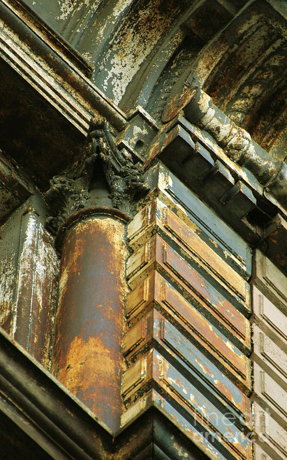 Architectural Patina Mixed Media  - Architectural Patina Fine Art Print