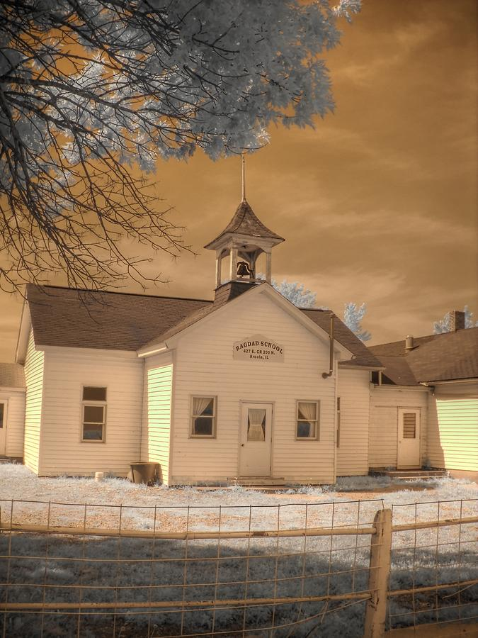 Arcola Illinois School Photograph  - Arcola Illinois School Fine Art Print