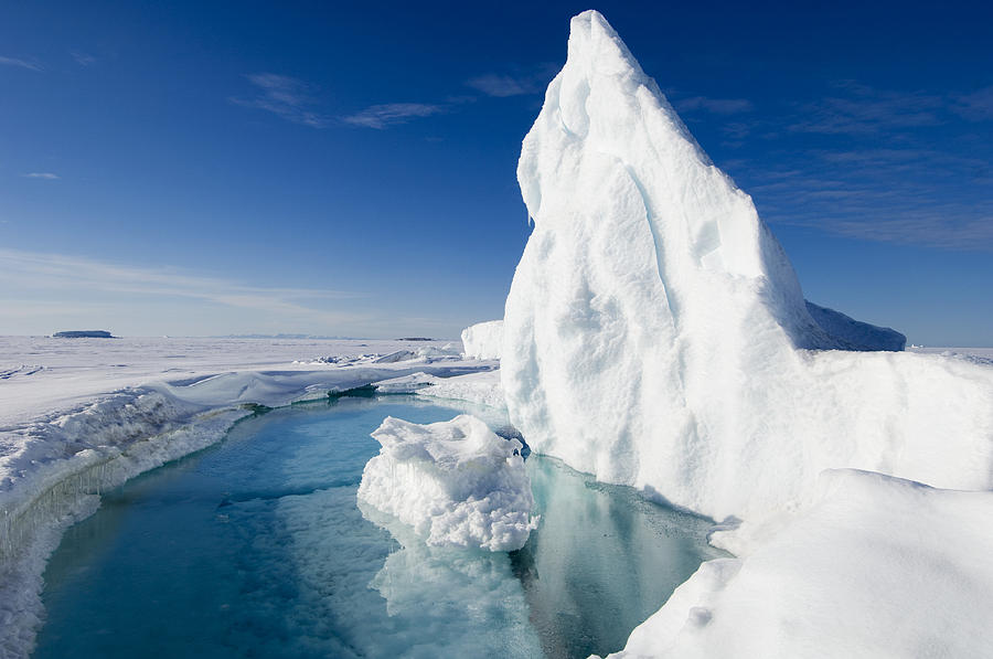 Water Photograph - Arctic Sea Ice Melting, Canada by Louise Murray