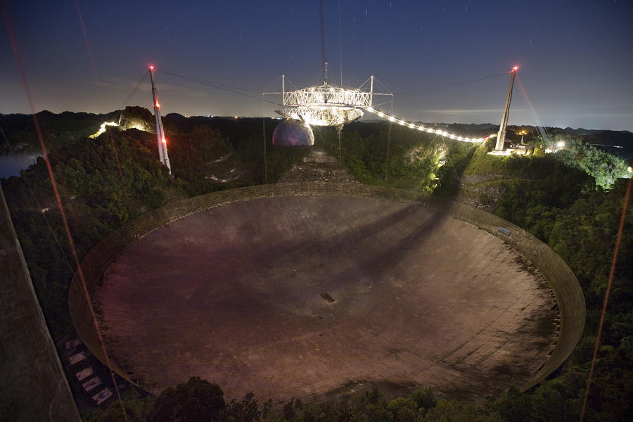 Arecibo Observatory In Puerto Rico Photograph