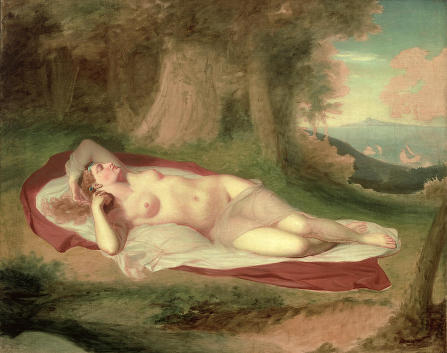 Ariadne Asleep On The Island Of Naxos Painting  - Ariadne Asleep On The Island Of Naxos Fine Art Print