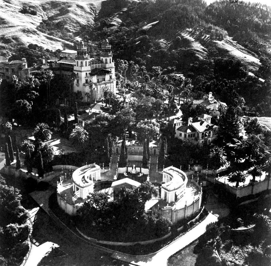 Arial View Of Hearst Castle, San Photograph  - Arial View Of Hearst Castle, San Fine Art Print