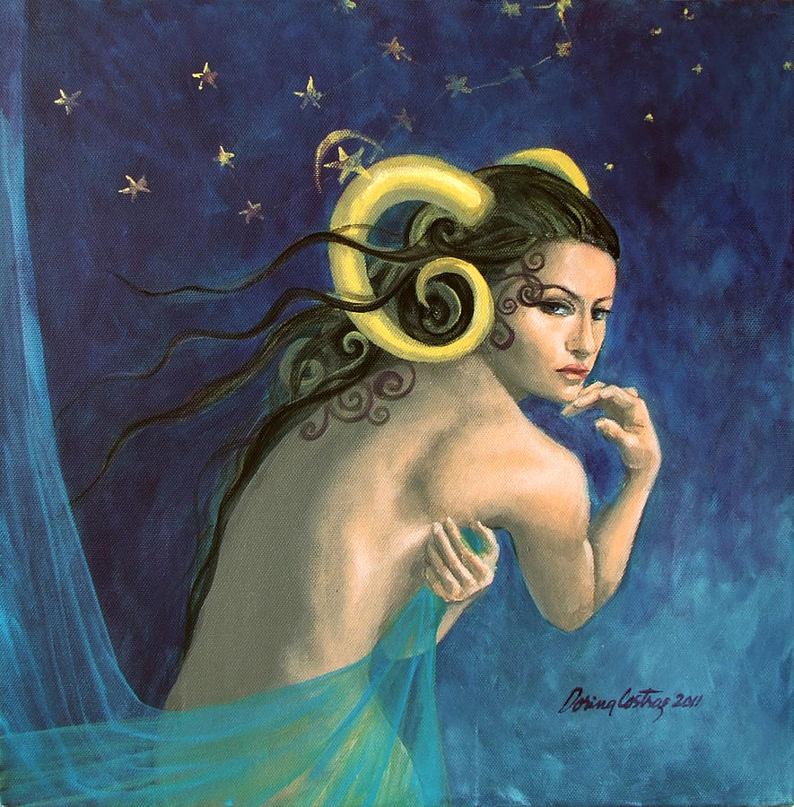 Aries From Zodiac Series Painting  - Aries From Zodiac Series Fine Art Print