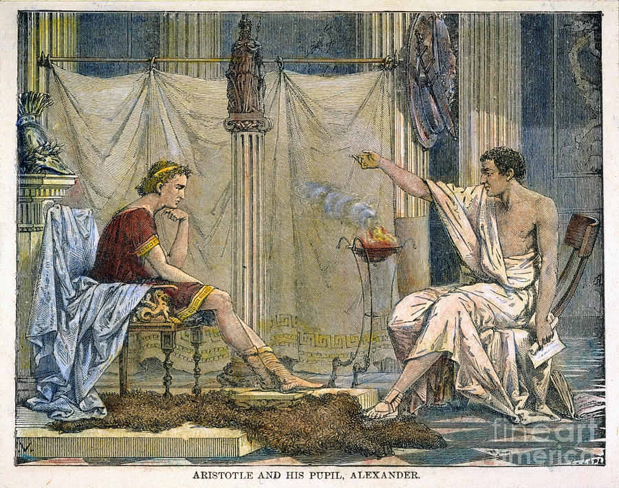 Aristotle, and his pupil Alexander