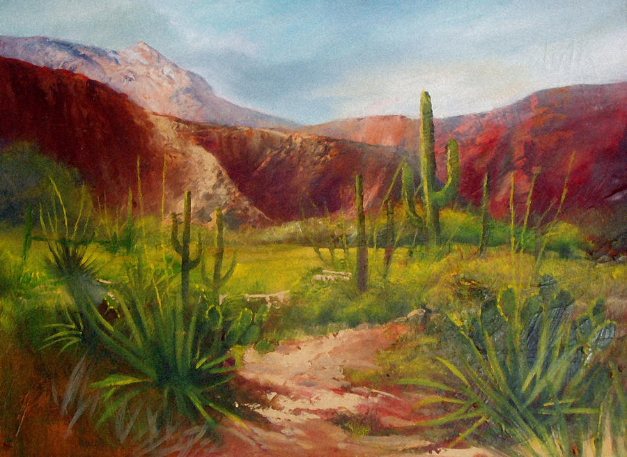 Arizona Beauty Painting  - Arizona Beauty Fine Art Print
