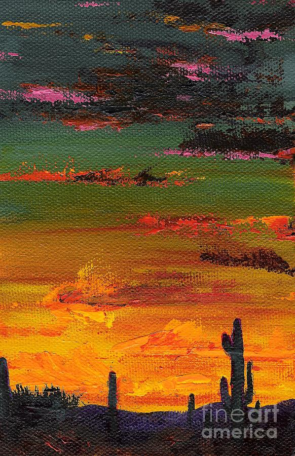 Arizona Sunset Painting  - Arizona Sunset Fine Art Print