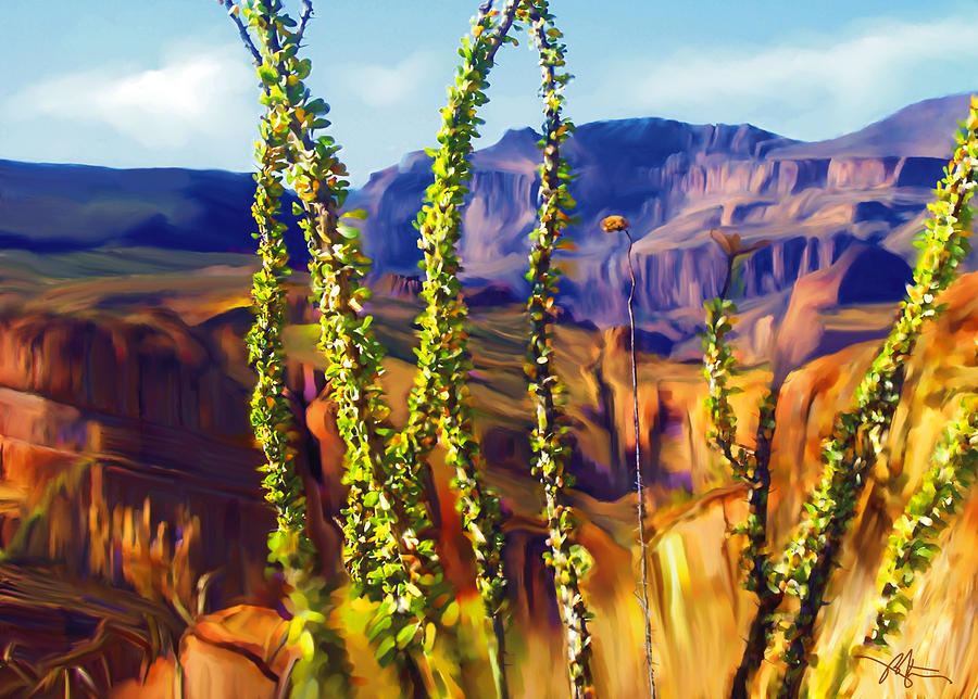 Arizona Superstition Mountains Painting  - Arizona Superstition Mountains Fine Art Print