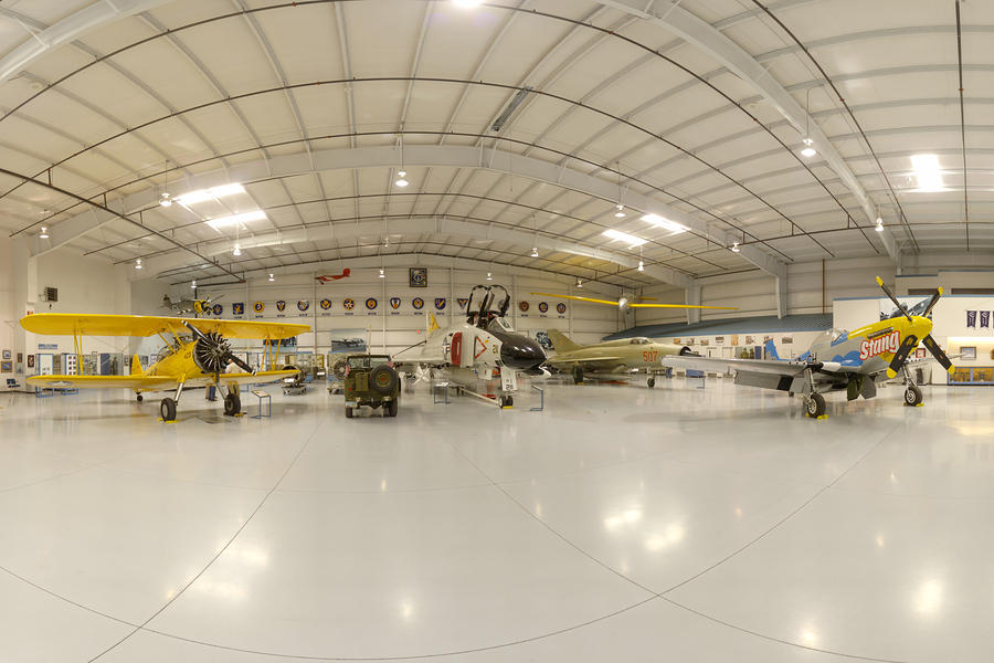 Arizona Wing Of The Commemorative Air Force Hangar March 28 2011 Photograph  - Arizona Wing Of The Commemorative Air Force Hangar March 28 2011 Fine Art Print