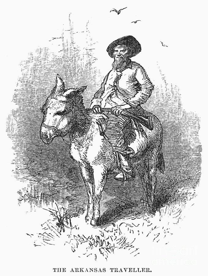 Arkansas Traveler, 1878 Photograph
