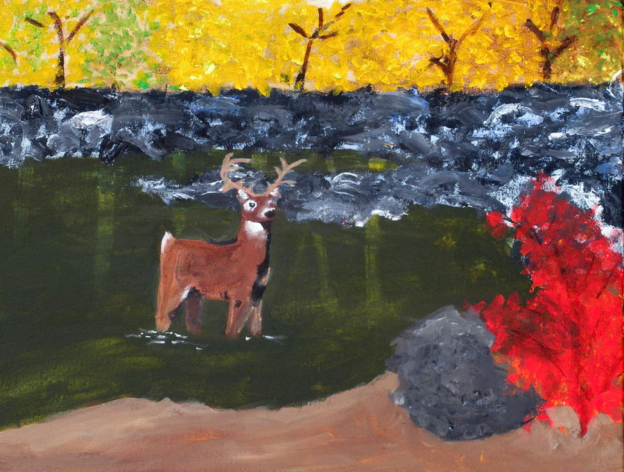 Deer Painting - Arkansas Wildlife by Ashley Anthony