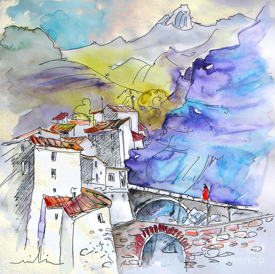 Arnedillo In La Rioja Spain 02 Painting  - Arnedillo In La Rioja Spain 02 Fine Art Print