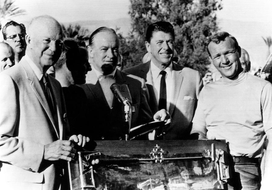 Arnold Palmer Right, Receives The Bob Photograph