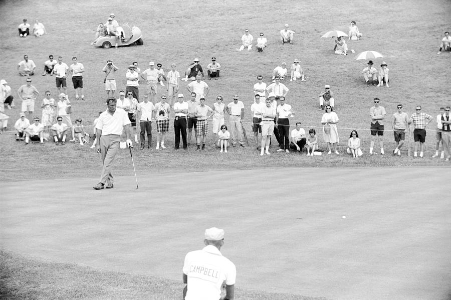 Arnold Palmer Waits At 1964 Us Open At Congressional Country Club Photograph