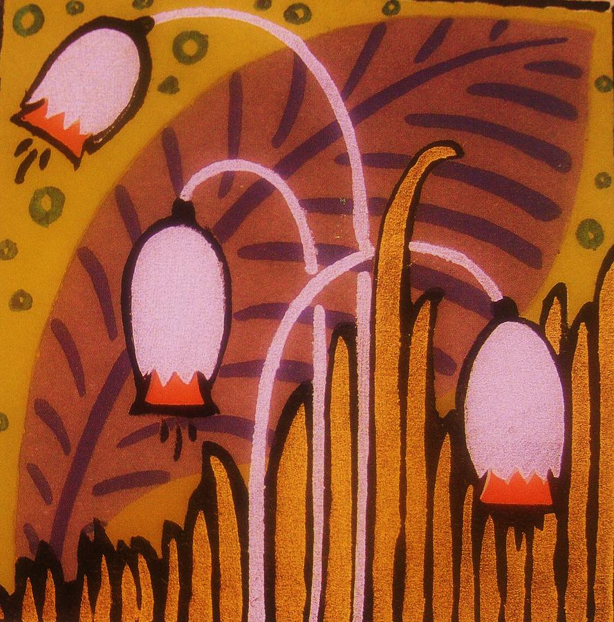 Art deco flowers 5 painting by gunter hortz for Art deco flowers