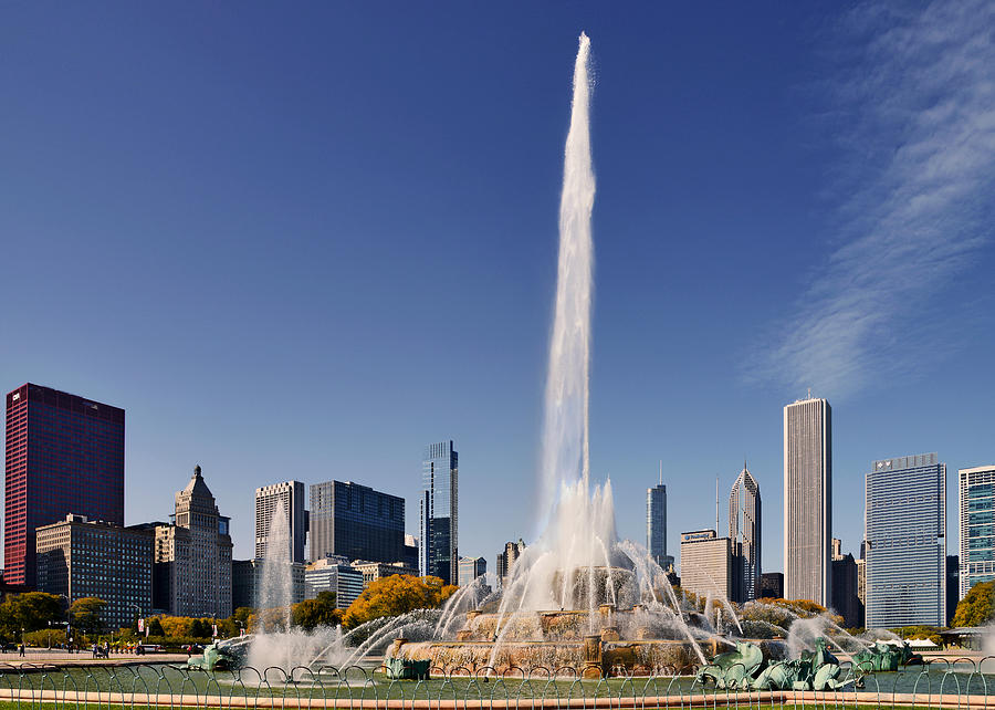 Art Deco Buckingham Fountain Chicago Photograph