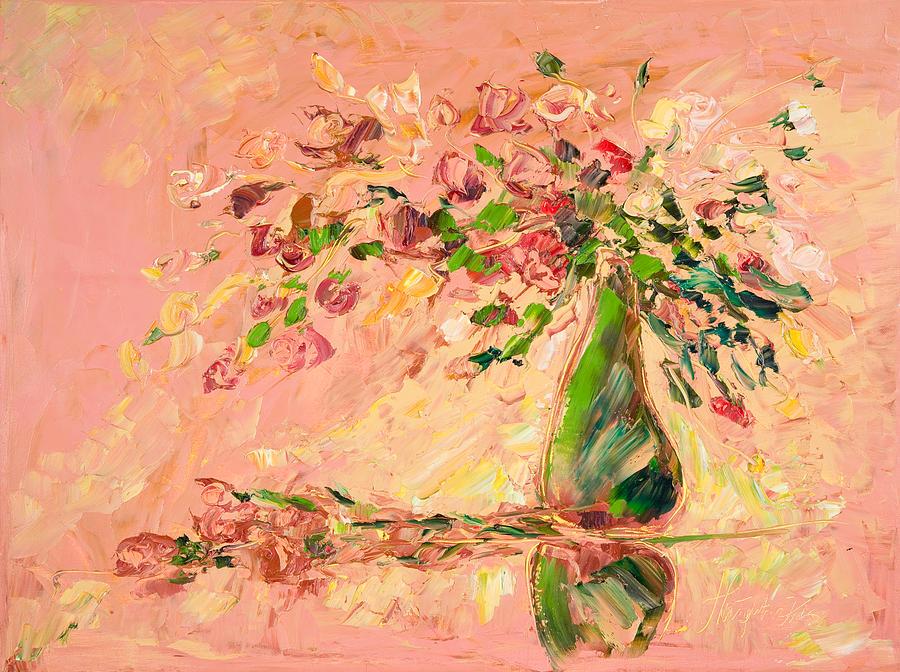 Art deco flowers painting by malgorzata kruk for Art deco flowers
