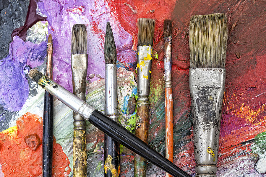 Art Is Messy 6 Photograph by Carol Leigh
