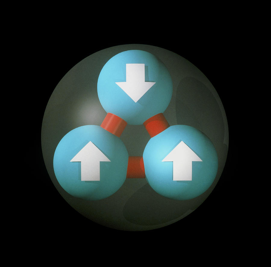 Art Of Proton Showing Constituent Quarks Photograph
