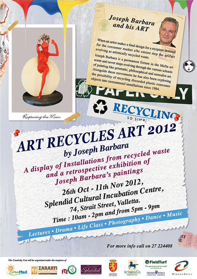 Exhibition Painting - Art Recycles Art by Joseph  Barbara