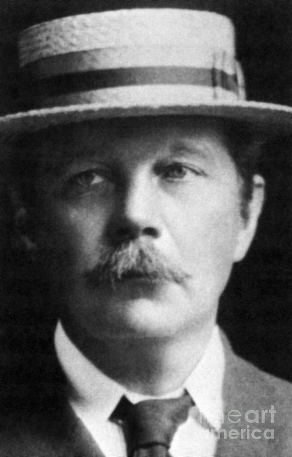 History Photograph - Arthur Conan Doyle, Scottish Author by Science Source