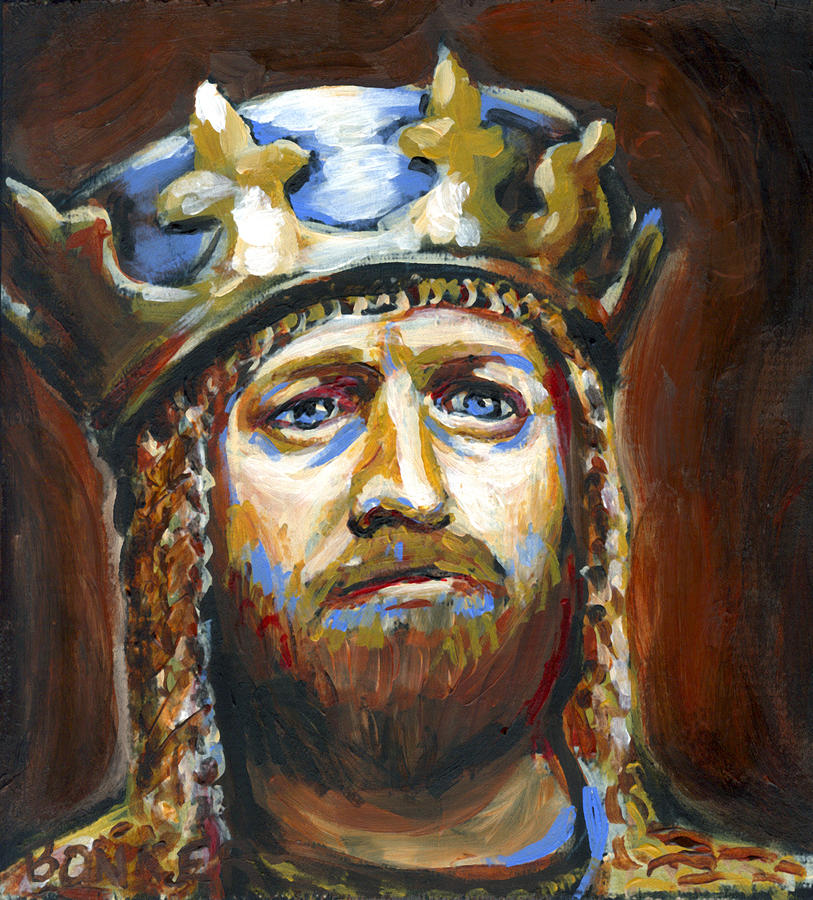 Arthur King Of The Britons Painting  - Arthur King Of The Britons Fine Art Print
