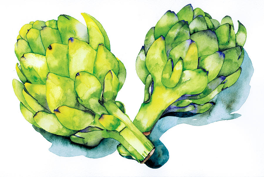 Artichokes Have Hearts Painting  - Artichokes Have Hearts Fine Art Print