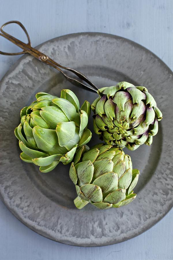 Vertical Photograph - Artichokes by Ingwervanille