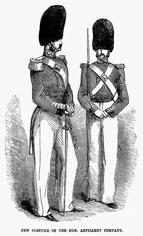 1855 Photograph - Artillery Company, 1855 by Granger