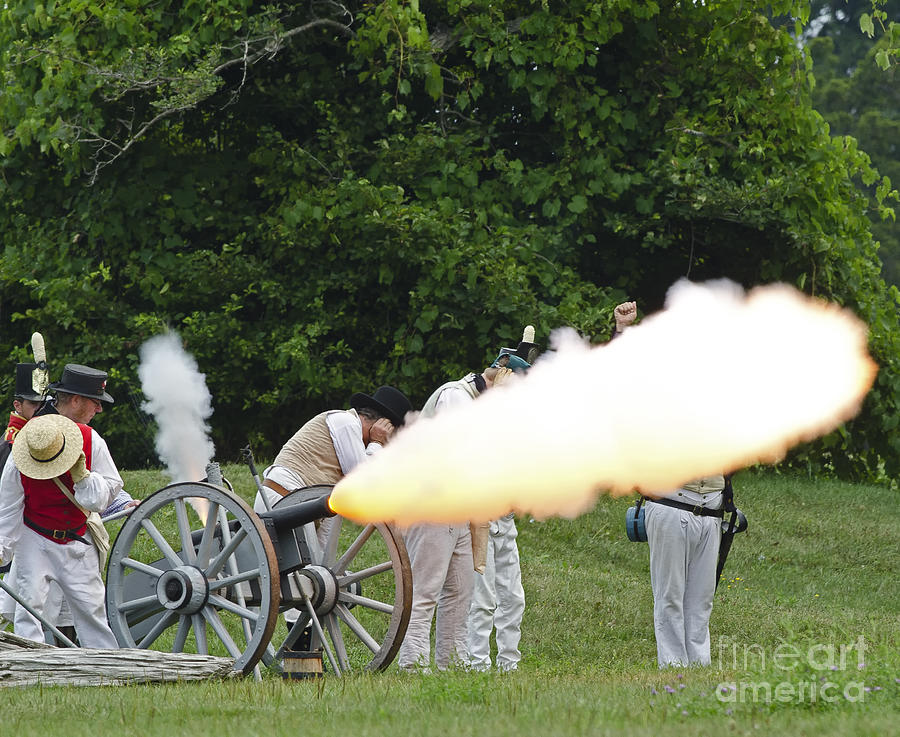 Artillery Demonstration Photograph  - Artillery Demonstration Fine Art Print