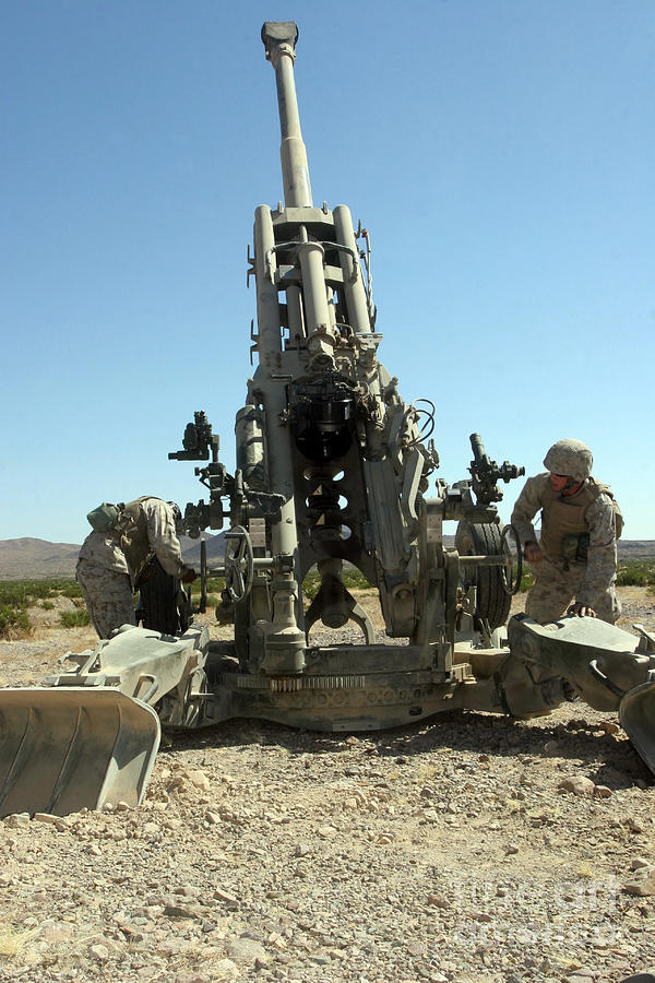 Artillerymen Manning The M777 Photograph