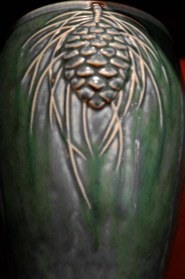 Artistic Pine Cone Vase Photograph