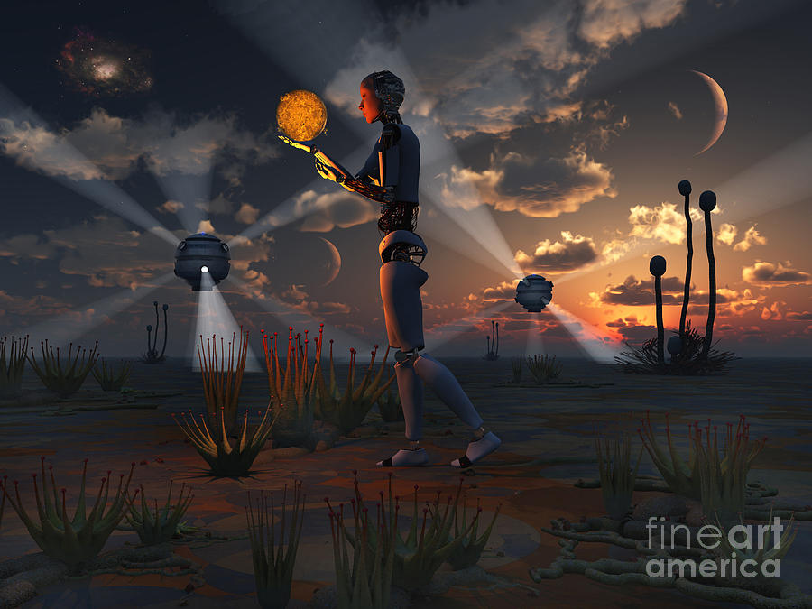 Artists Concept Of A Quest To Find New Digital Art