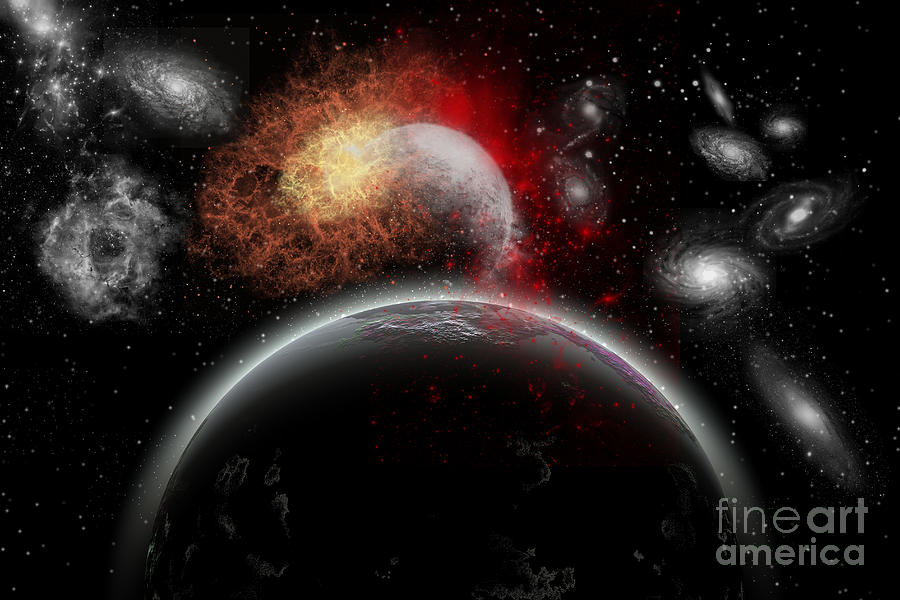 Artists Concept Of Cosmic Contrast Digital Art  - Artists Concept Of Cosmic Contrast Fine Art Print