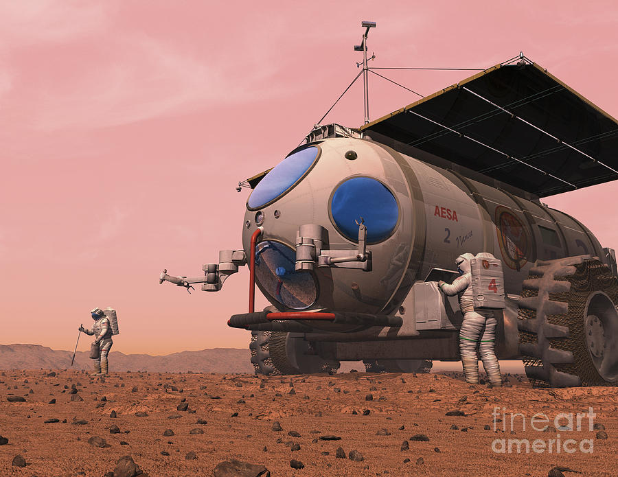 Space Exploration Digital Art - Artists Concept Of How A Martian by Walter Myers