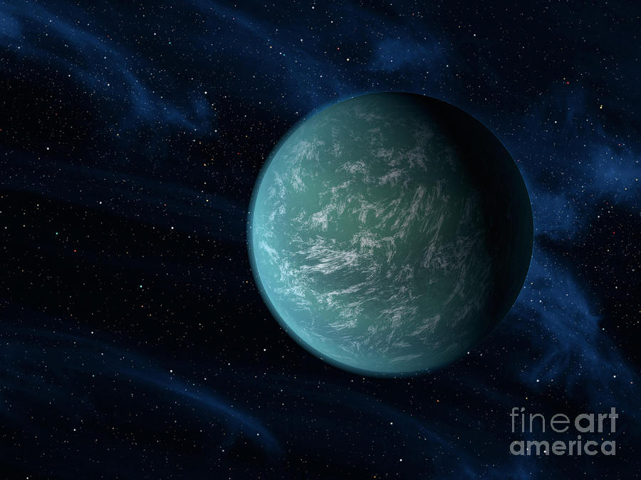 Artists Concept Of Kepler 22b, An Digital Art  - Artists Concept Of Kepler 22b, An Fine Art Print