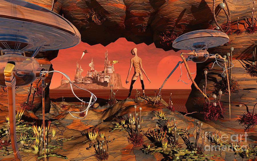 artists concept of life on mars digital art by mark stevenson