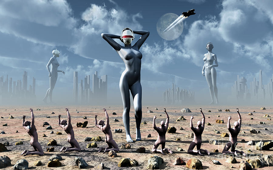 Religion Digital Art - Artists Concept Of Mankinds Reliance by Mark Stevenson