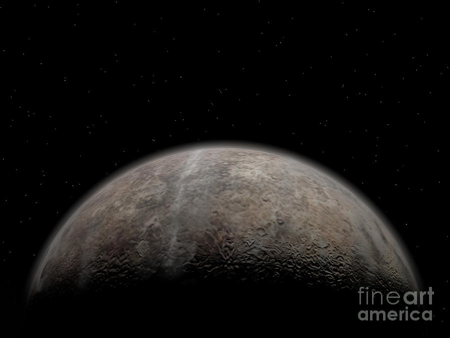 Artists Concept Of Pluto Digital Art  - Artists Concept Of Pluto Fine Art Print