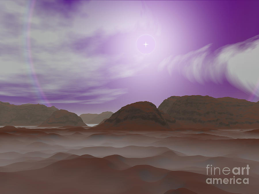 Artists Concept Of The Atmosphere Digital Art  - Artists Concept Of The Atmosphere Fine Art Print